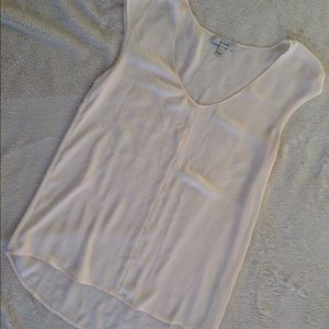 J. Crew high low sheer off white blouse